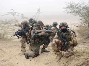 In pic: (Unrelated) Indian and French soldiers take part in the joint Indo-French Army Exercise 'Shakti 2016' at the Mahajan Field Firing Range in Bikaner on January 16, 2016.