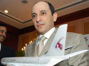 """Disappointed at India's decision to auction air-traffic rights, Qatar Airways chief executive Akbar Al-Baker said it was against the country's interest to """"restrict"""" foreign carriers from operating freely in its air space."""