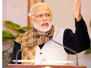 """PM Modi said the victory of BJP and its allies in bypolls in various states showed that people had reposed faith in the """"politics of development""""."""