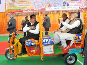 Chief Minister Arvind Kejriwal today launched the subsidy scheme for e-rickshaws as he announced financial assistance of Rs 30,000 by the Delhi government for retrofitting and registration of the vehicles.