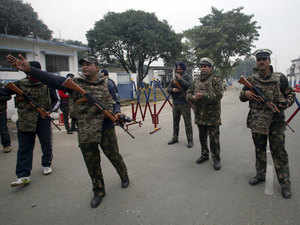 """The team's visit is expected,"" a senior diplomat told Dawn News, adding that the dates for the trip were yet to be finalised.In pic: Indian Army in alert near Pathankot airbase."