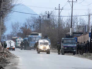 Massive reinforcements reached the EDI complex in Pampore in Srinagar outskirts after militants attacked a CRPF vehicle.