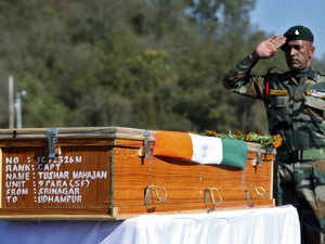 As his mortal remains wrapped in tricolor reached his hometown today, his friends recalled an essay that the braveheart had written in school expressing his desire to join the army.