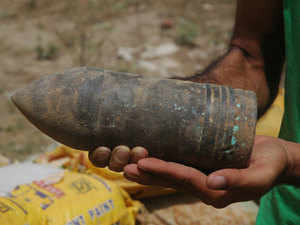 Eighty-seven bomb-shells, believed to be of World War 2 period, have been found at the border town of Moreh during excavation work for construction of a power sub-station. (Representative image)