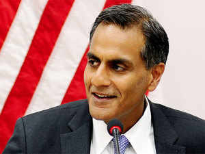 "Pitching for a greater role for India in Asia Pacific, US Ambassador to New Delhi Richard Verma today hoped navy vessels of the two countries ""steaming together"" will become a common and welcome sight in Indo-Pacific waters in ""not too"" distant future."