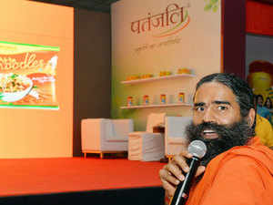 Baba Ramdev-led Patanjali's sales jumped 64 per cent to Rs 731 crore in the six months ended December and rivals Dabur and Himalaya grew in double digits in a consumer products market.