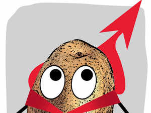 Potato prices may shoot up as much as 50-65% by April-May to Rs 18-20 per kg owing to an expected fall in production in West Bengal.