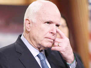 """John McCain said """"it is a very good time"""" for India and the US to announce that they are """"considering"""" joint maritime patrols in the disputed South China Sea."""