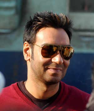 Actor Ajay Devgn during the shooting of 'London dreams' at Kurali. BCCL