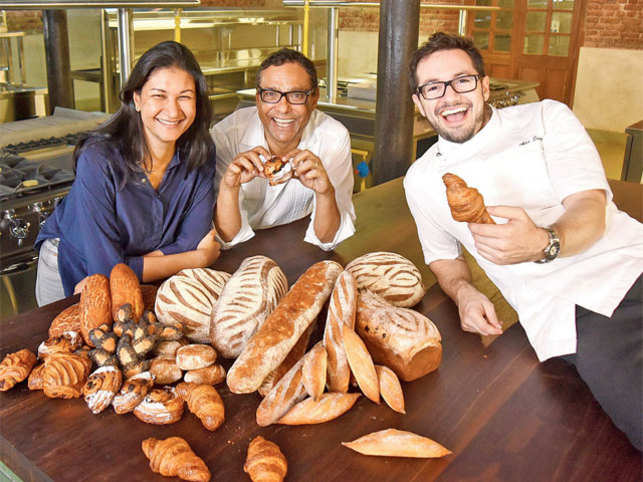 (L to R) Gauri Devidayal, Jay Yousuf and Alex Sanchez are excited about their new kitchen which has state-of-the-art equipment and a bakery. It will be a collaborative space for chefs