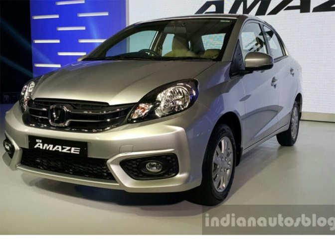 2016 Honda Amaze (facelift) launched at Rs 5.29 lakh - Honda Amaze (facelift) launched | The ...
