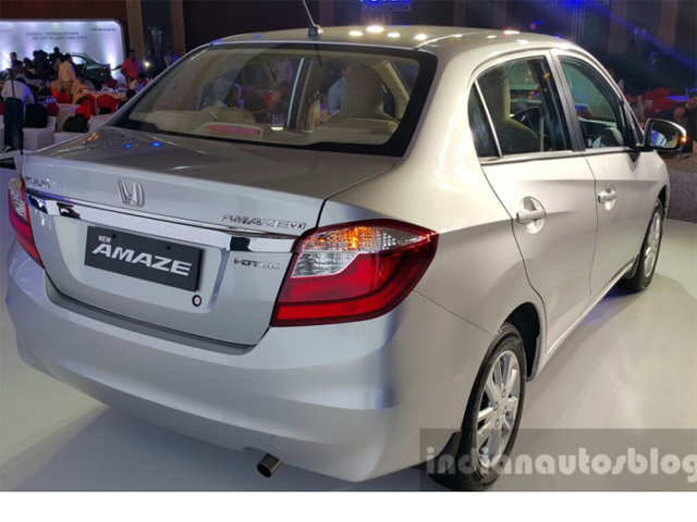 Revised Exterior 2016 Honda Amaze Facelift Launched At Rs 5 29