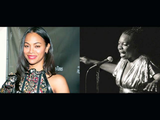 Simone's only child Lisa Simone Kelly thought it was unfair to attack Zoe Saldana for her role in the biopic 'Nina'.
