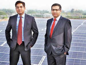 Adarsh Das (left), CEO, and Kushagra Nandan, president, SunSource Energy.
