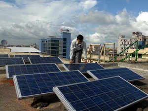 (Representative image) Bharat Solar Power Development Forum (BSPDF), floated by the RSS, wants the government to impose anti dumping duty on imported solar cells and modules.