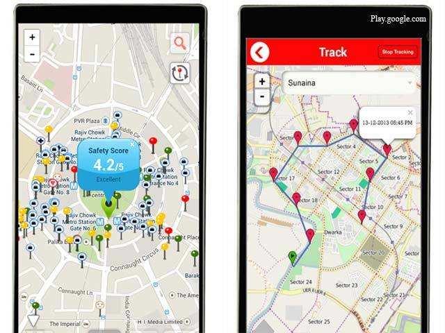 Image result for safetipin app for women