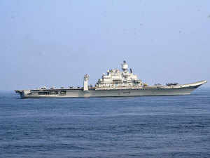 Indian aircraft carrier INS Vikramaditya along with its support ships INS Mysore and INS Deepak recently were on a four-day visit to Maldives.