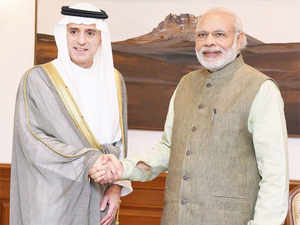 Saudi Arabian Foreign Minister Adel bin Ahmed Al-Jubeir met PM here on Tuesday with a view to elevate the bilateral strategic partnership.