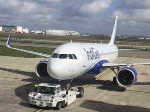The country's largest airline by market share IndiGo is all set to take delivery of its maiden new engine technology aircraft A320neo, becoming the first domestic carrier to have such a plane in its fleet.