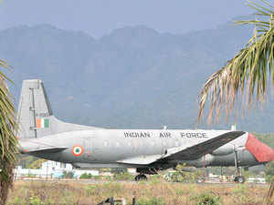 Chief of Central Army Command Lt Gen B S Negi and seven other armed forces personnel today had a narrow escape when one of the tyres of a Dornier aircraft burst while landing at the Jolly Grant airport, about 30 km from the city.