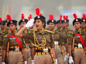 (In pic) ITBP women passing out parade at Bhanu near Chandigarh.