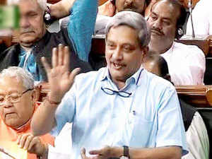 The suspicious boat, which had reportedly originated from Pakistan, was intercepted by Indian security forces before the occupants blew it up, Parrikar told Lok Sabha.