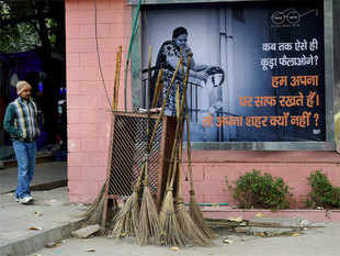 The Centre may use its Digital India project in conjunction with the Swachh Bharat Abhiyan to have solar-powered trash which send alerts once they are full.
