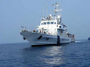 Coast Guard ship Rajkamal and six interceptor boats will be re-based in the Andaman and Nicobar Islands for enhancing security of new Coast Guard stations.In pic: ICGS Rajveer