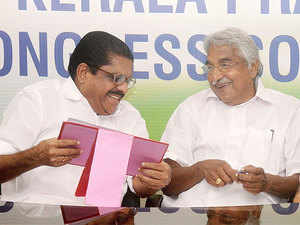 Chandy's government and Sudheeran have been at odds over a few decisions the state cabinet made just ahead of the announcement of election dates.