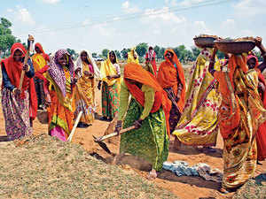 Wages for unskilled workers under the MNREGA have been increased again by nominal levels by the Centre from April 1 despite demands from many states for a major increase in the wages.