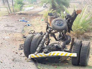 "CRPF DG K Durga Prasad said that the powerful IED explosion that killed seven CRPF men in Dantewada on Wednesday was planted after digging a ""foxhole tunnel"" near a culvert to plant 45 kilogramme of explosive beneath the concrete black top road."