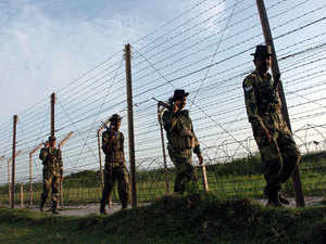 Border Security Force night patrolling team saw some suspicious movement along the barbed fencing at the border outpost in Bherowal, a BSF official said.