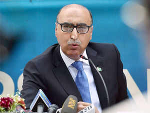 Pakistan high commissioner to India Abdul Basit said last Thursday that the talks between the neighbours were suspended, evoking a sharp reaction from India.