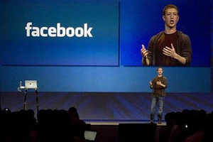 Mark Zuckerberg, founder and CEO of Facebook, delivers a keynote address at the company's annual conference in San Francisco, California July 23, 2008.