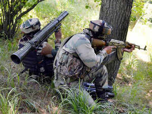 Pakistani troops today violated the ceasefire along the international border by resorting to small arm firing on the forward Regal Post in Samba sector in Jammu and Kashmir.