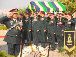 (Representative image) Tributes were paid to the martyrs of Indian Army at a solemn ceremony at 'Prerna Sthal' to mark 12th raising day of South Western Army Command.