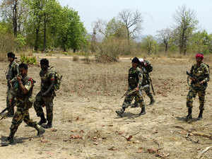 Officials said the incident took place early today near the Chintagufa-Burkapal axis when troops of 74th battalion were sanitising a track.