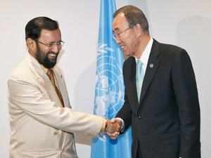 Javadekar and Ban Paris climate AP 1