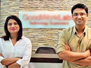 Sonia Sharma (left) and Vishwas Mudgal , Co-founders, GoodWorkLabs