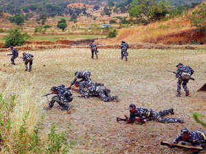 The Maoist parties of South Asian countries are members of this conglomerate. Besides, Left Wing Extremist groups have participated in conferences conducted in Belgium and Germany.In pic: Security officials performing training exercise to catch Moaists.