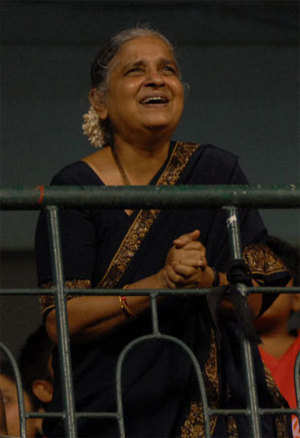 Sudha Murthy sells 20 L Infy shares for Rs 445 cr