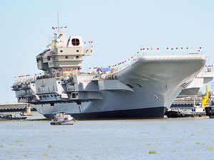 Finmeccanica, the Italian defence group which is on the verge of getting blacklisted, has several military systems in service in India.  In Pic: INS Vikrant