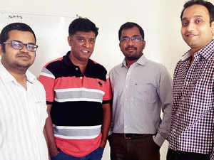 From Left to Right: Subrhmanyam AS, Sujithkumar CR, Udayakumar Kadirvel & Siddhartha Vinnakote