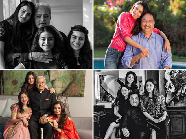 The world knows these men as sharp businessmen. Their daughters provide an insight to what makes their fathers astute. (Photo Credit -PICS: Rafique Sayed, Sheetal Mallar, Sudhir Ramchandran, Amit Pasricha- Pictures sourced from Timeless Portraits of Love, a coffee table book by Khushii)