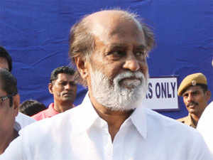 South superstars Rajinikanth cast his vote and urges others to exercise their democratic rights.
