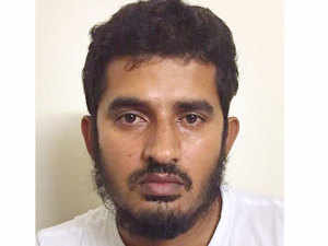 Siddibapa, cousin of Indian Mujahideen co-founder Yasin Bhatkal, was held at Indira Gandhi International Airport today after his arrival from Dubai.