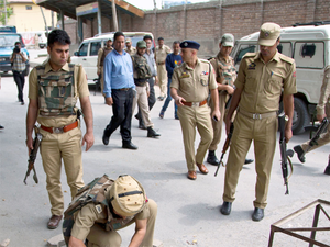 The ultras shot at the two cops from close range at Mill Stop in Zadibal area which connects the city to Hazratbal Shrine and super speciality SKIMS Hospital at Soura, a police official said.