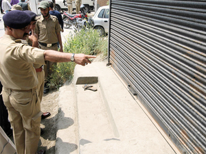 Security forces launched an operation in Maharaja Bazaar following information about the presence of militants in the area, a police official said.