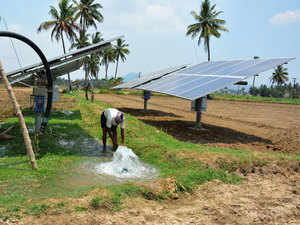Solar pumps mostly substitute for diesel and electric pumps used by farmers. Solar pumps of 3-5 HP cost around Rs 5-7 lakh, multiple times more than diesel and electric pumps.