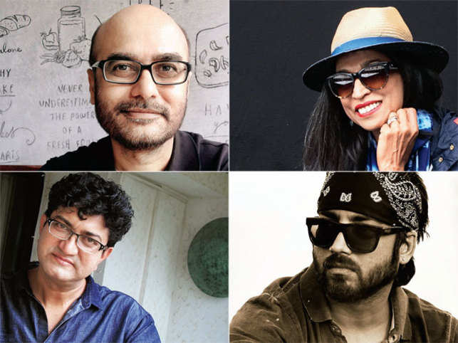 Clockwise from top left: Ravi Deshpande, Elsie Nanji, Amit Sharma, and Prasoon Joshi.